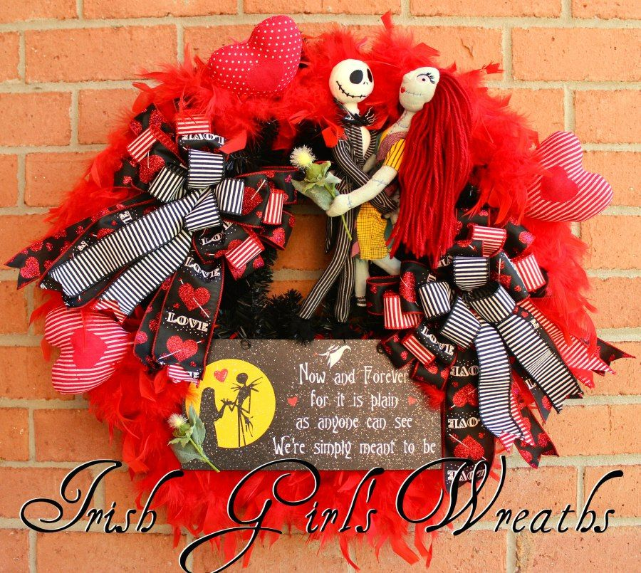 Jack Skellington and Sally Meant to Be Wreath, Nightmare Before ...