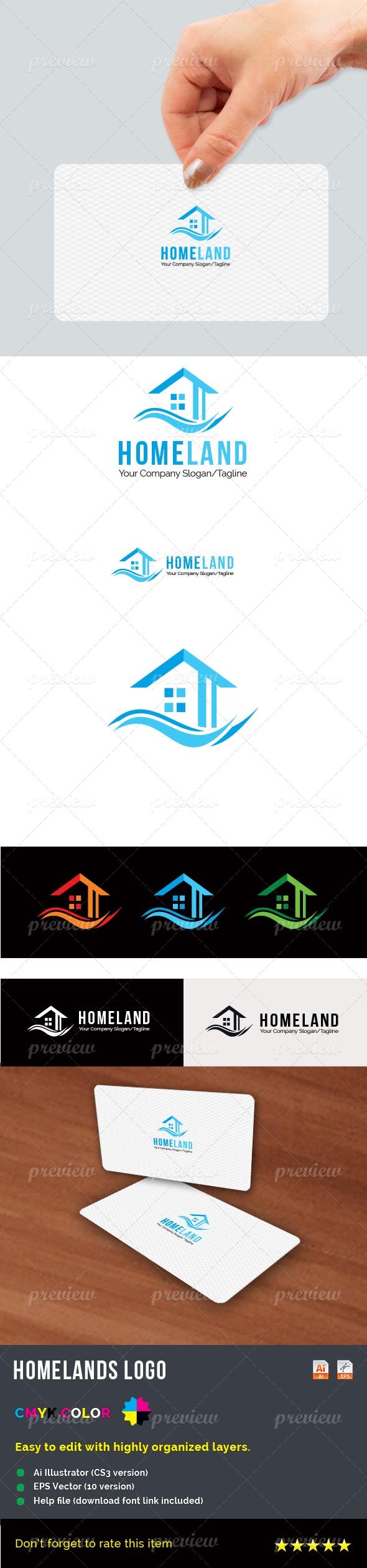 HomeLand Logo Print templates, Logos, Logo color
