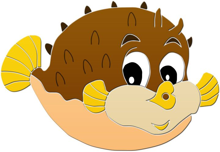 This Is Best Puffer Fish Clip Art 15695 Cute Puffer Fish
