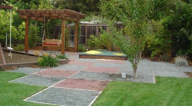 Kid Backyards Images Friendly Backyardbackyard Landscapinghortus Design Sustainable