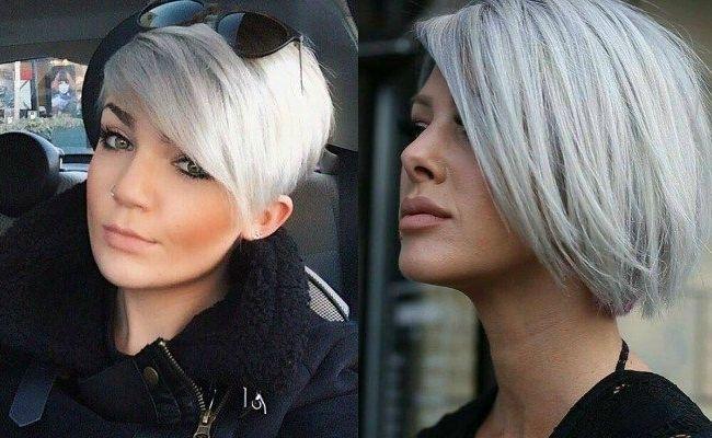 Capelli corti color grigio argento  3b85136e06ee