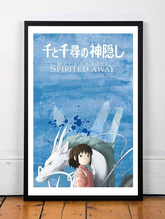 SPIRITED AWAY- Minimalist Print- anime Poster- Poster ...