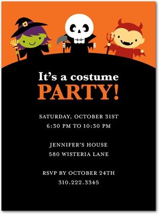 faye's invite | girls party ideas | Pinterest | Halloween party ...