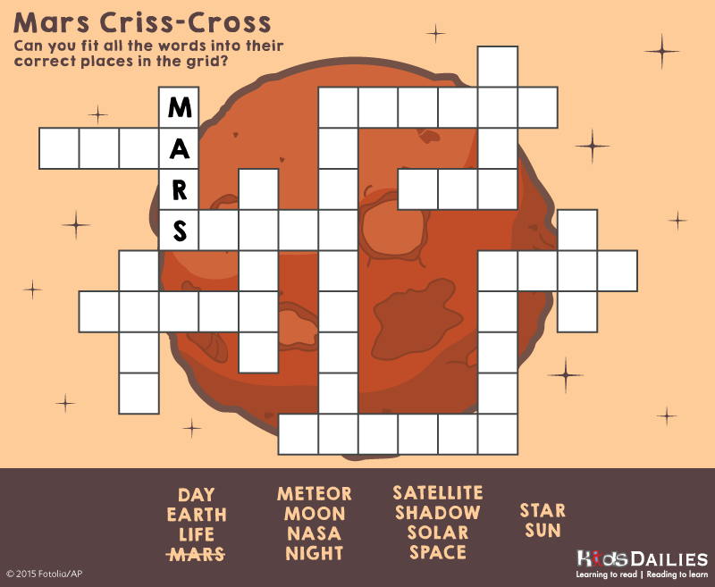 Daily10 Space Criss-Cross Word Game For Children Aged 8-12