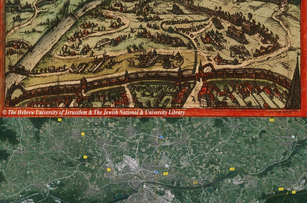 Ingolstadt Germany Map Then And Now OldCities - Germany map then and now