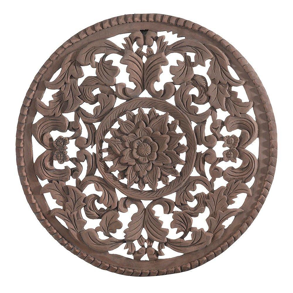 Circular Wood Wall Art Enchanting Medium Round Wooden Wall Art  Exotic Traveller  Temple & Webster Decorating Inspiration