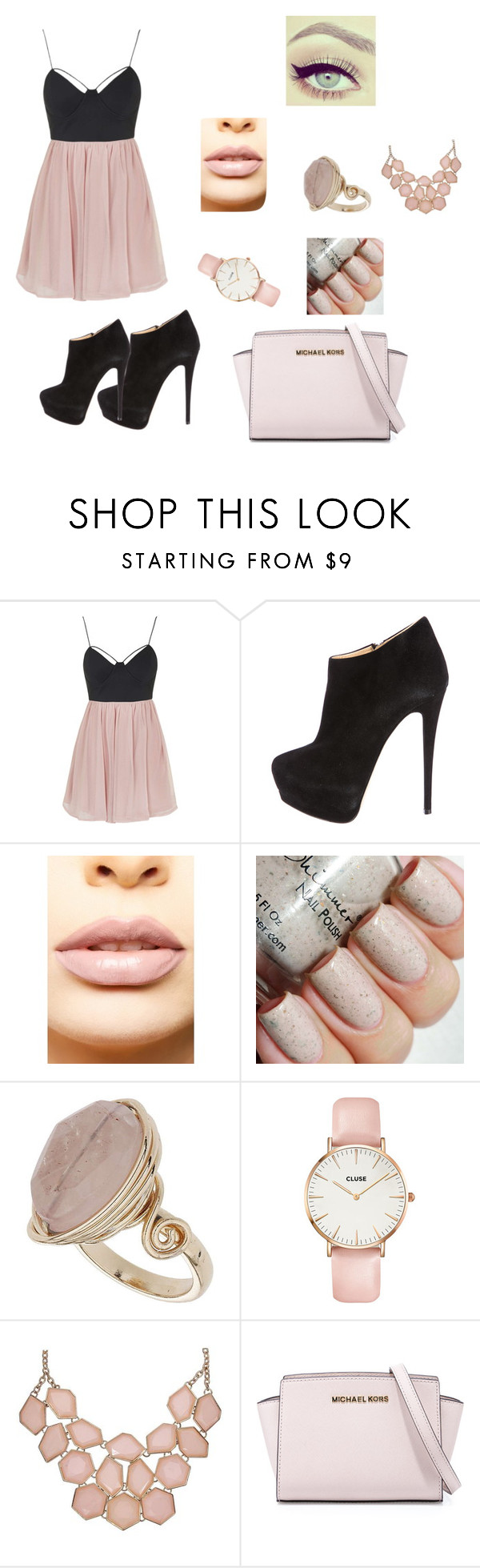 """~Banquet~"" by shannon9300 ❤ liked on Polyvore featuring Topshop, Giuseppe Zanotti, LASplash, CLUSE, MICHAEL Michael Kors, women's clothing, women, female, woman and misses"