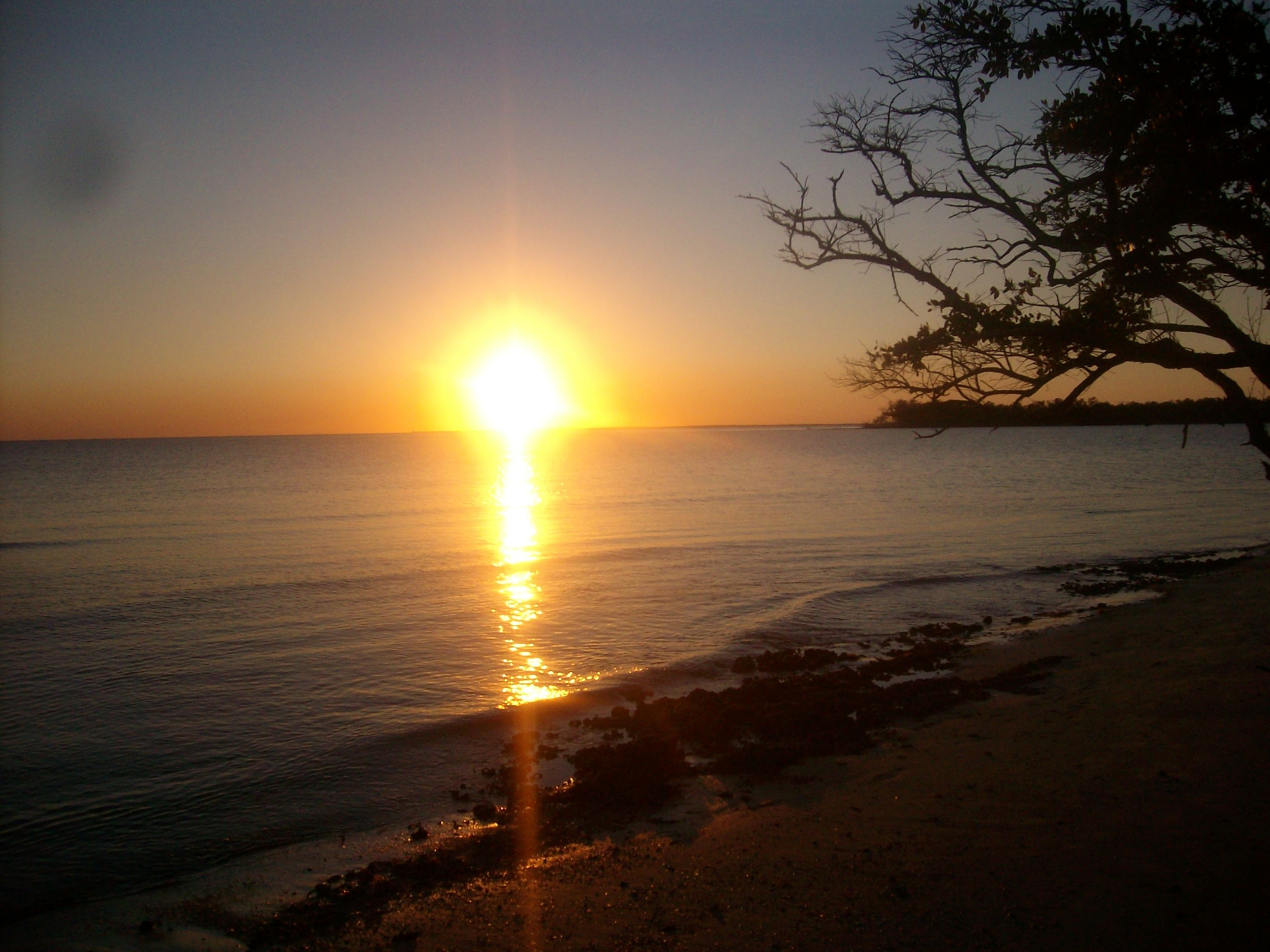Sunset off White Horse Key, Florida.