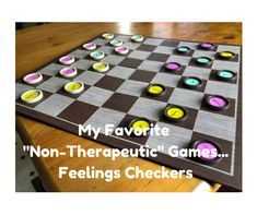 "My Favorite ""Non-Therapeutic"" Games: Feelings Checkers ..."
