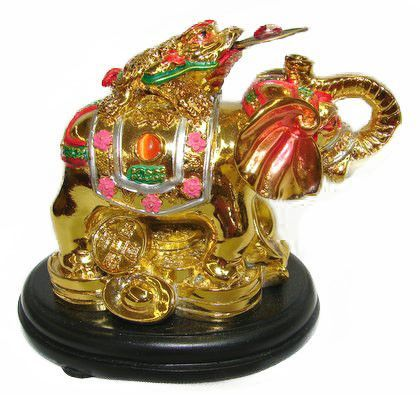Colorful Money Frog On Elephant