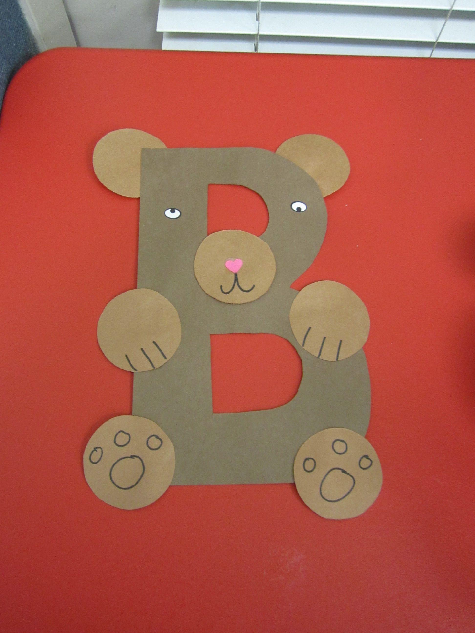 B Is For Bear Preschool Alphabet Craft