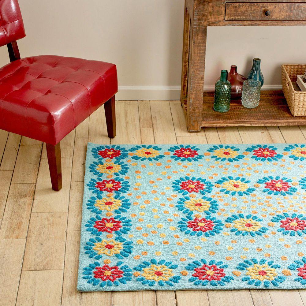 Daisy Chain Area Rug Home Decor Non Slip Handmade Dot Backing Kid Room Rectangle Pioneer Woman Kitchen Pioneer Woman Cookware Pioneer Woman