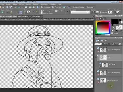 Paint Shop Pro Tutorial How To Turn A Photo To Line Art By Vscorpianc Photo To Line Drawing Paint Shop Turn Photo Into Drawing