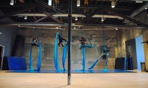 Groupon - Two, Four, or Six Aerial Fitness or Pole Dance Classes at Artistic…