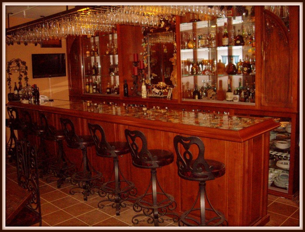 Custom Built-In Home Bar - Turn of the Century | Custom Bars ...