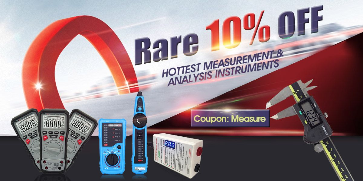 10% off for hottest measurement & analysis instruments