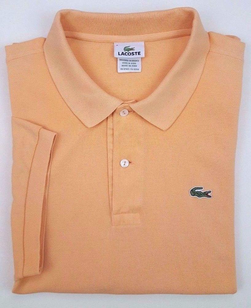 8acf7d4e40 LACOSTE Peach POLO Shirt MENS 8 Golf LOGO Keswick SIZE Cotton PIQUE  Devanlay 3XL #Lacoste #PoloRugby