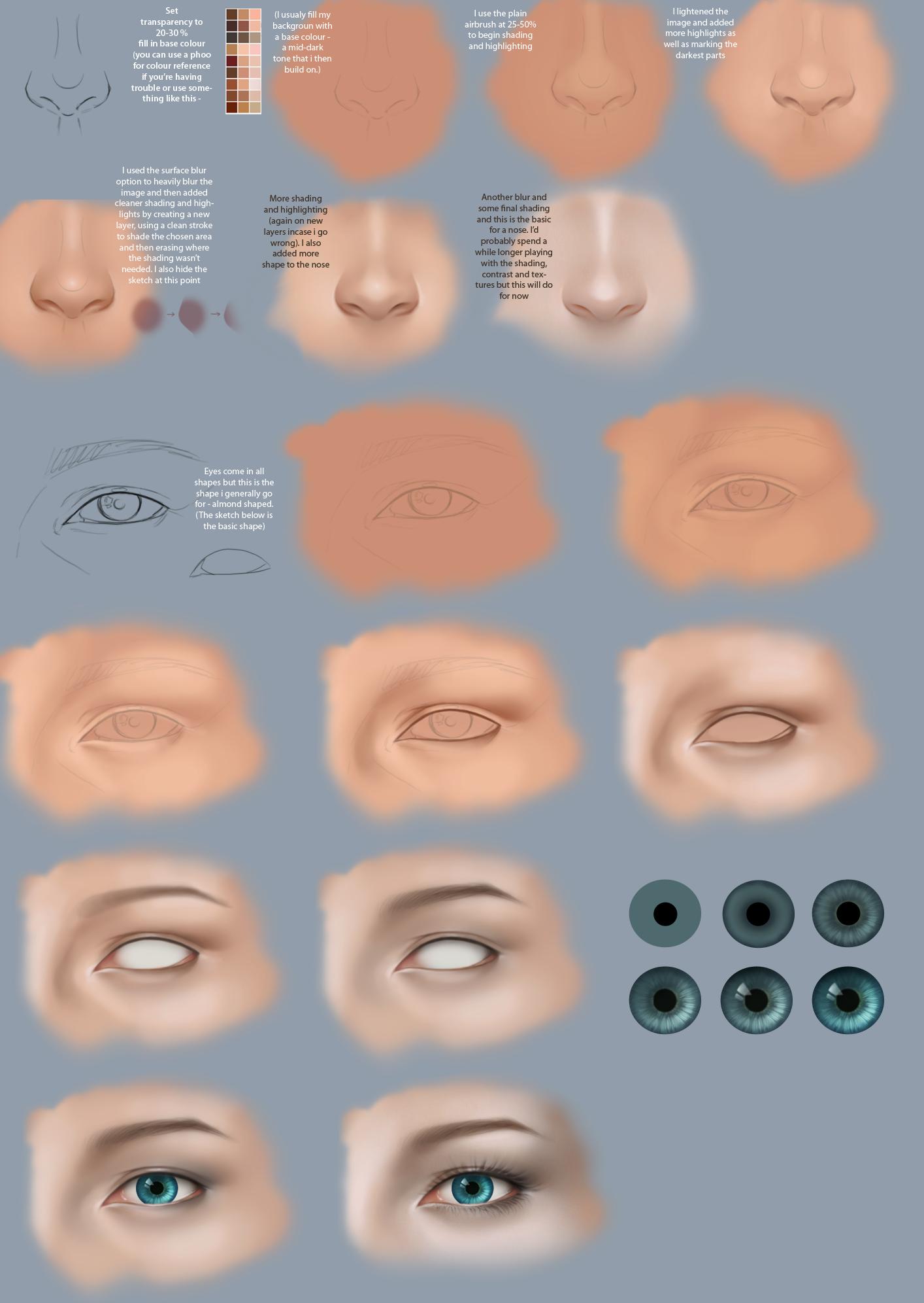 Nose and Eyes by gothic-icecream.deviantart.com on @deviantART
