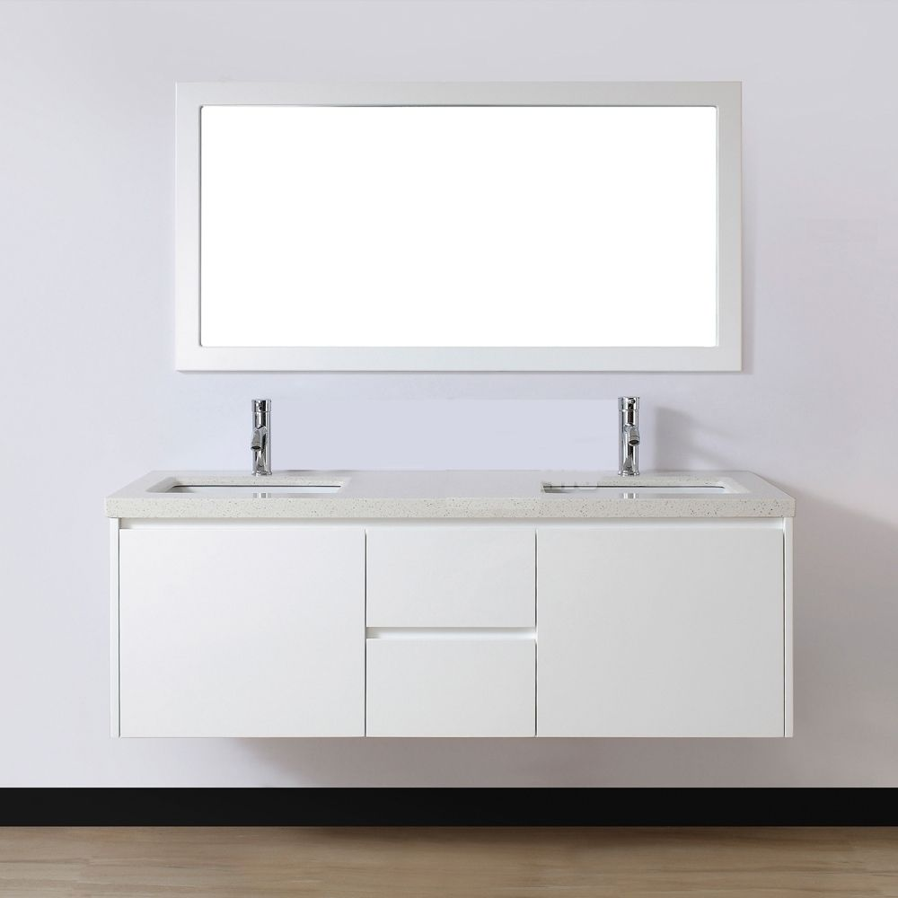 White gloss bathroom furniture - White Gloss Wall Hung Corner Bathroom Cabinet