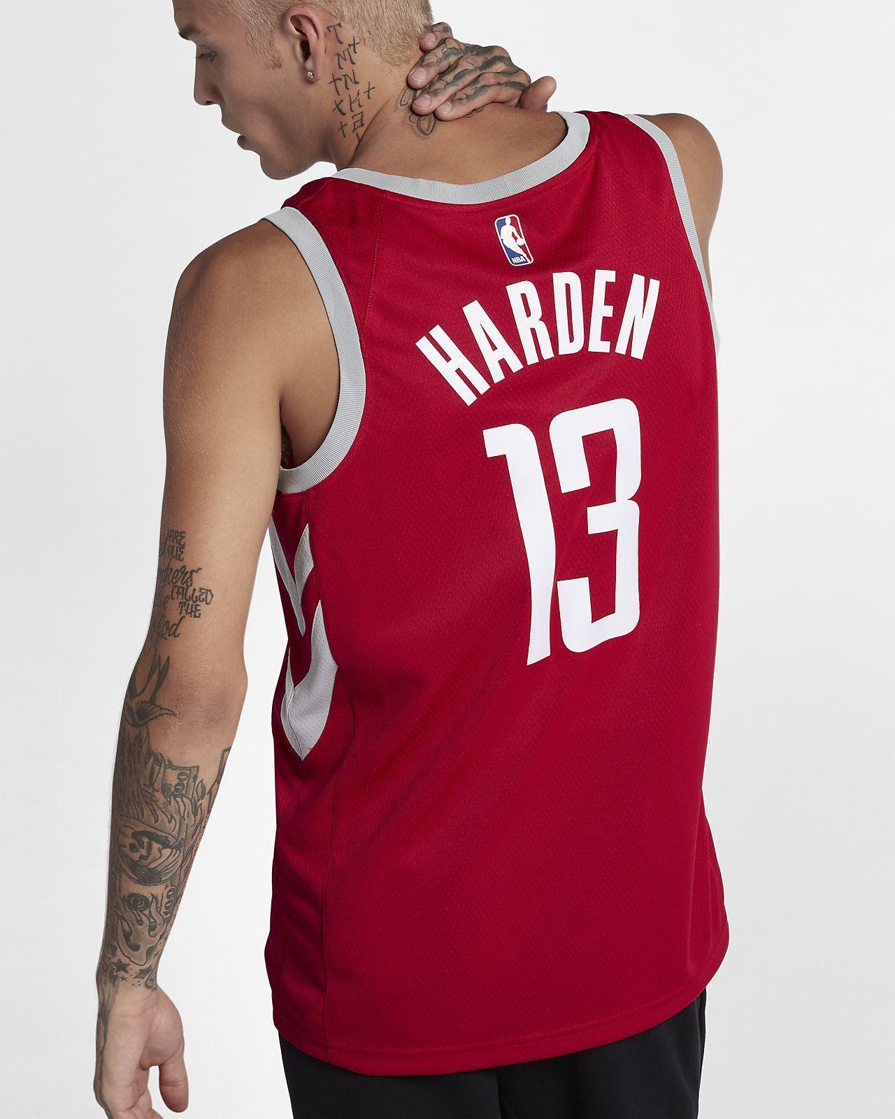 the best attitude 92aaf a7af0 Nike James Harden Houston Rockets Icon Edition Swingman Jersey Men s Nba -  2Xl (56) Silver
