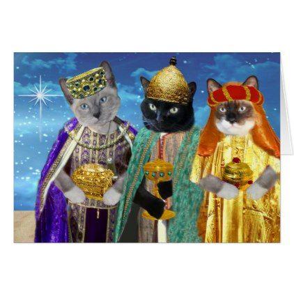 Three Kings Kittens Greeting Card | Zazzle.com