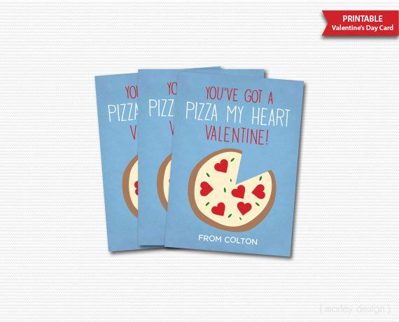 You Ve Got A Pizza My Heart Valentines Day Cards Kids Valentines