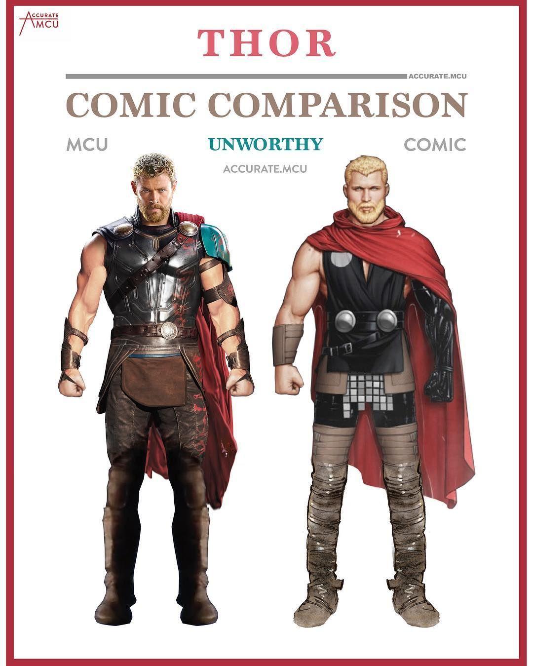 20 5k Likes 226 Comments Accurate Mcu Mcu Fanpage Accurate Mcu On Instagram Unworthy Thor Comic Comparison Thor Comic Marvel Superheroes Comics