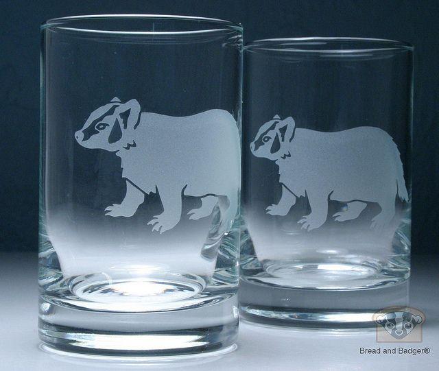 Juice glasses. #badger