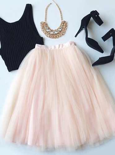 8e149d9e594d4 All in Good Cheer Peach Tulle Skirt in 2019 | .style. | Fashion ...