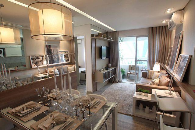 Sala toda em tom pastel apartamentos decorados for Apartamentos decorados pequenos