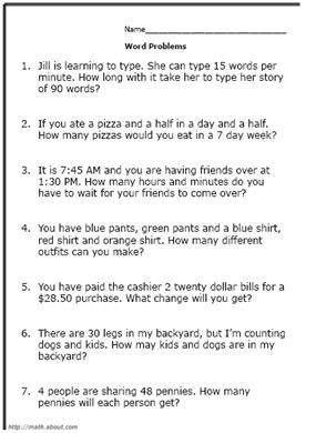 1000+ images about Math Word Problems on Pinterest | 3rd grade ...