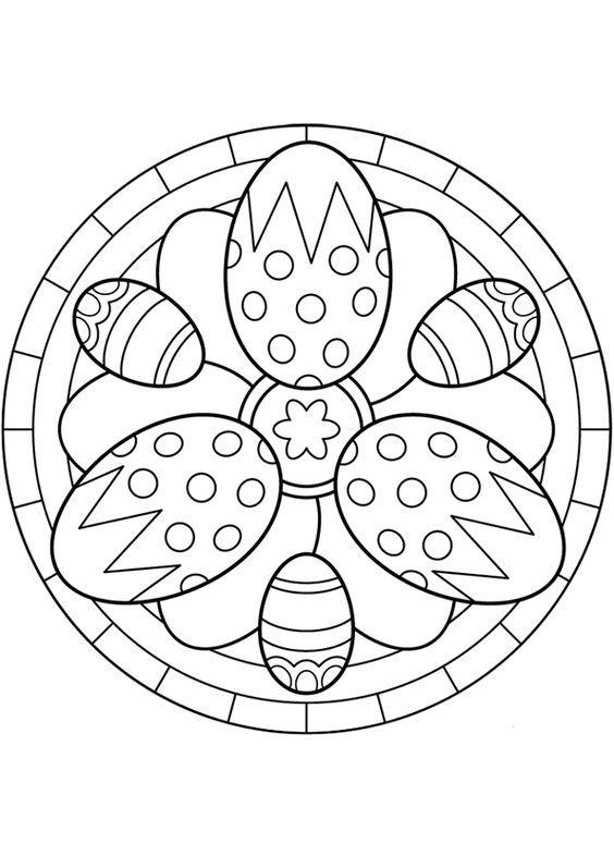 Kleurplaten Mandala Lente.Kleurplaat Mandala Kleurplaten 5258 Paaseieren Lente