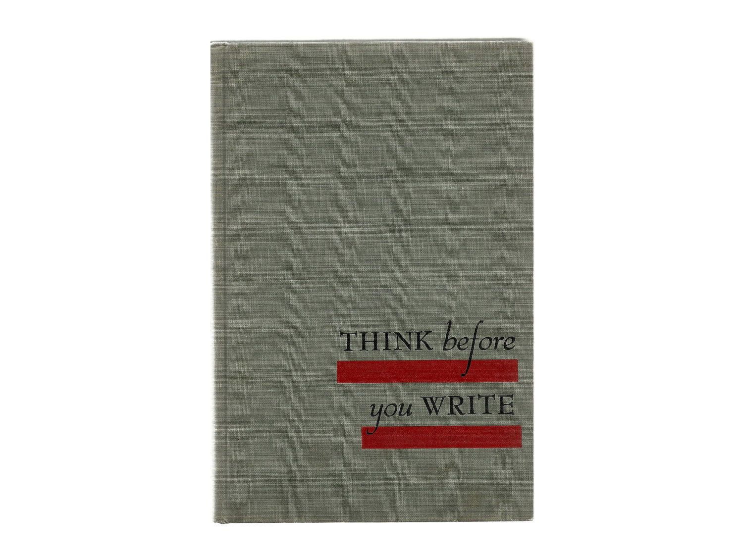 shipping think before you write vintage english shipping think before you write vintage english composition college text book holiday