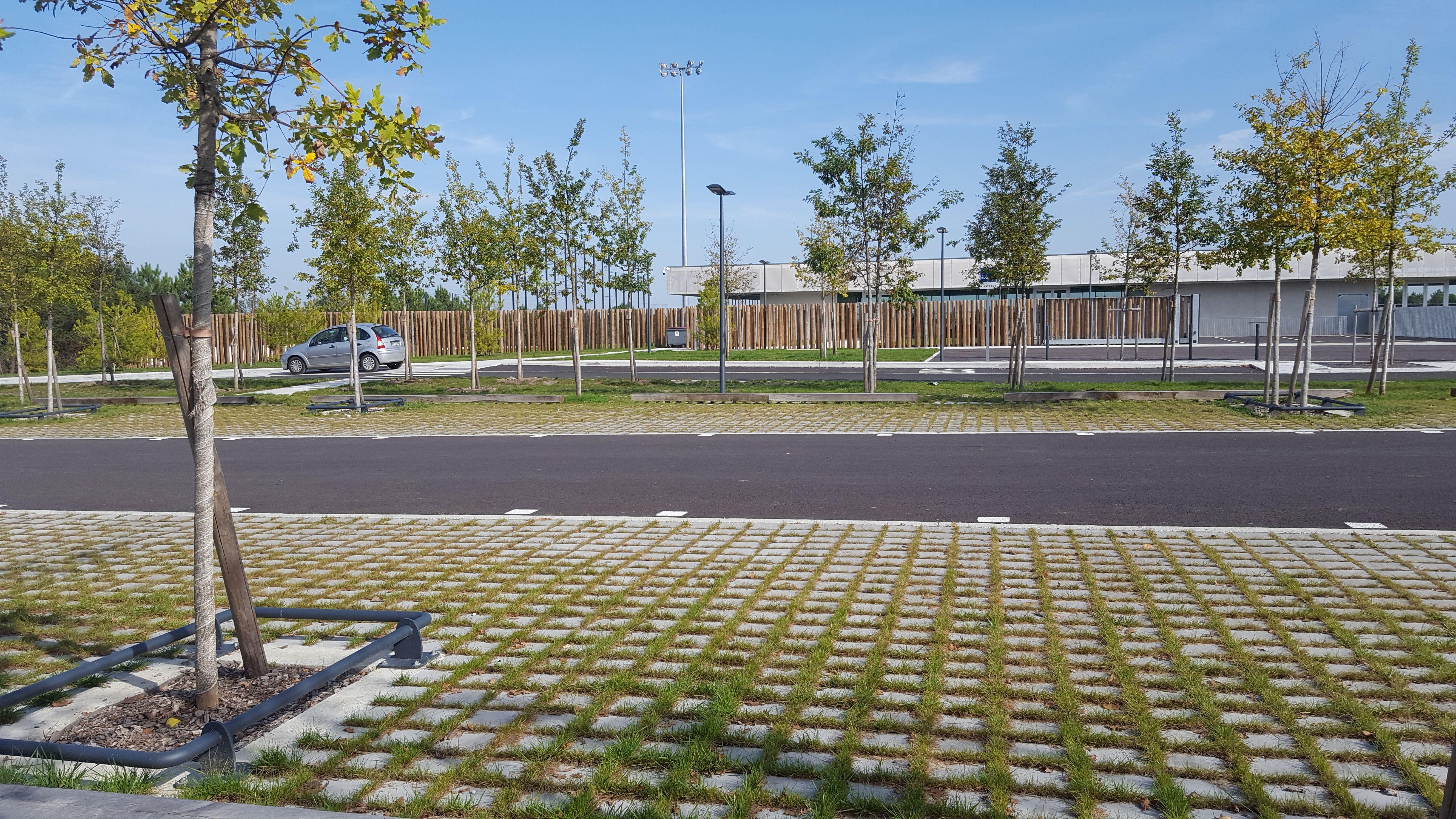Dalle Beton A Engazonner St Paul En 2020 Jardin Paysager Paysage Jardins