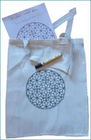 Fabric painting - mandala on tote bag | Adult Coloring Books ...