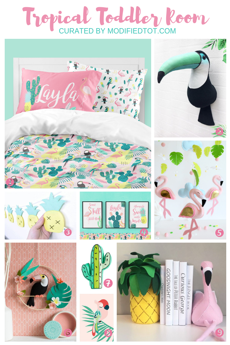 Girl Bedroom Idea Tropical Paradise Tropical Theme Bedroom