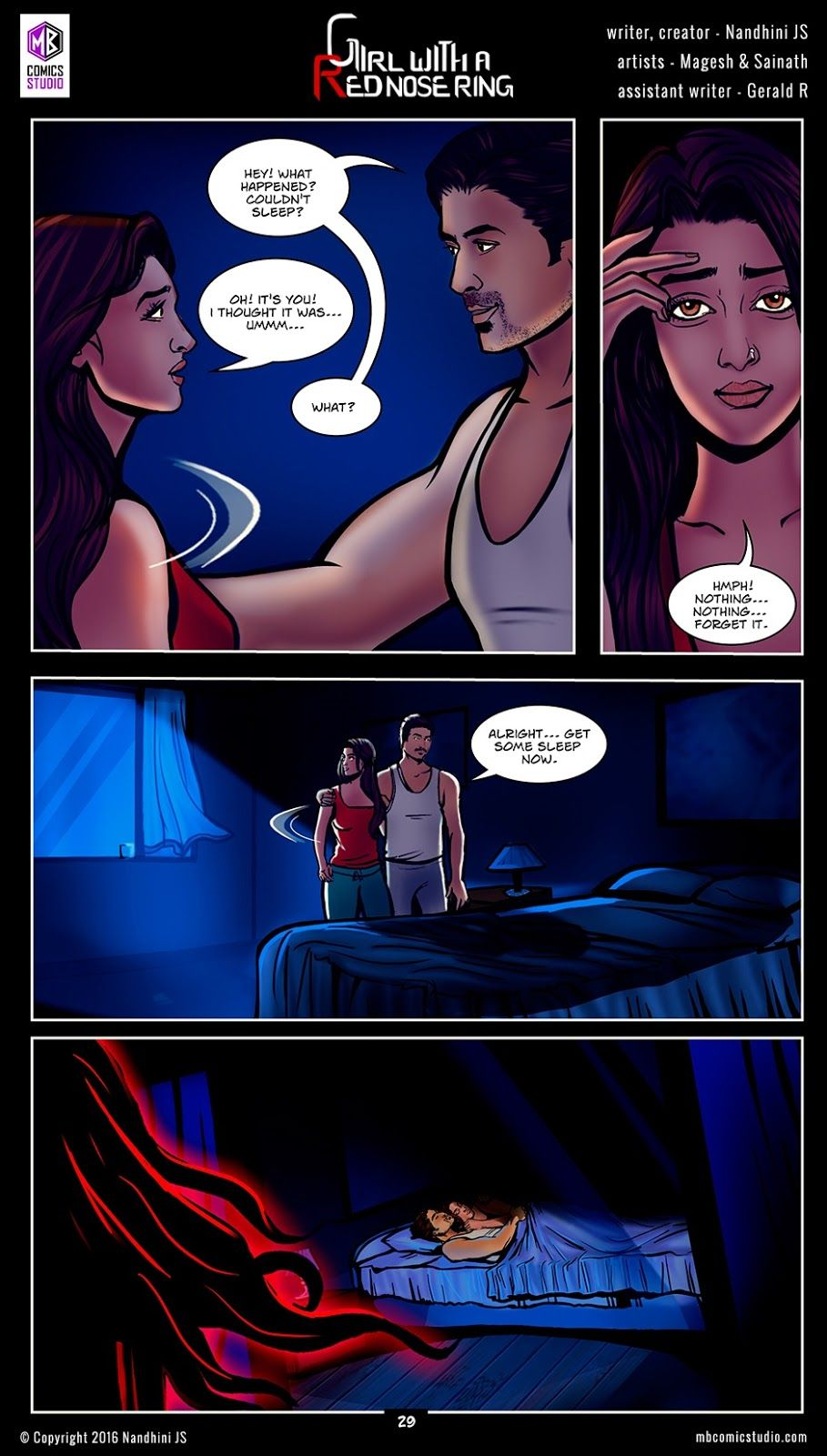 Page 29 - Nandhini's 'Girl with a Red Nose Ring' Comics  (read free