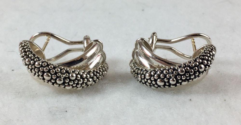 Michael Dawkins Sterling Silver Starry Night Earrings