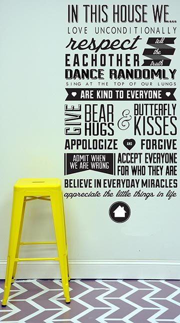 In This House We Wall Decal On Etsy 7000 Home Sweet Home