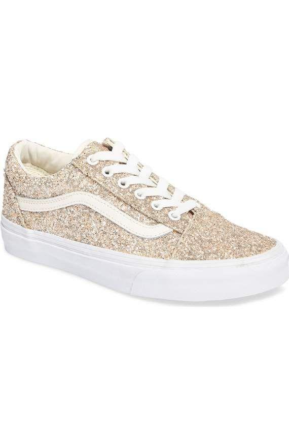 54c2b0bcd9783a Size gold glitter sparkle swag pinterest sneakers vans jpg 570x874 Vans  rose gold glitter