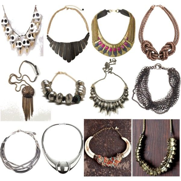 """Anne Hathaway Kibbe: """"soft Dramatic Theatrical Necklaces"""" By Skugge On Polyvore"""
