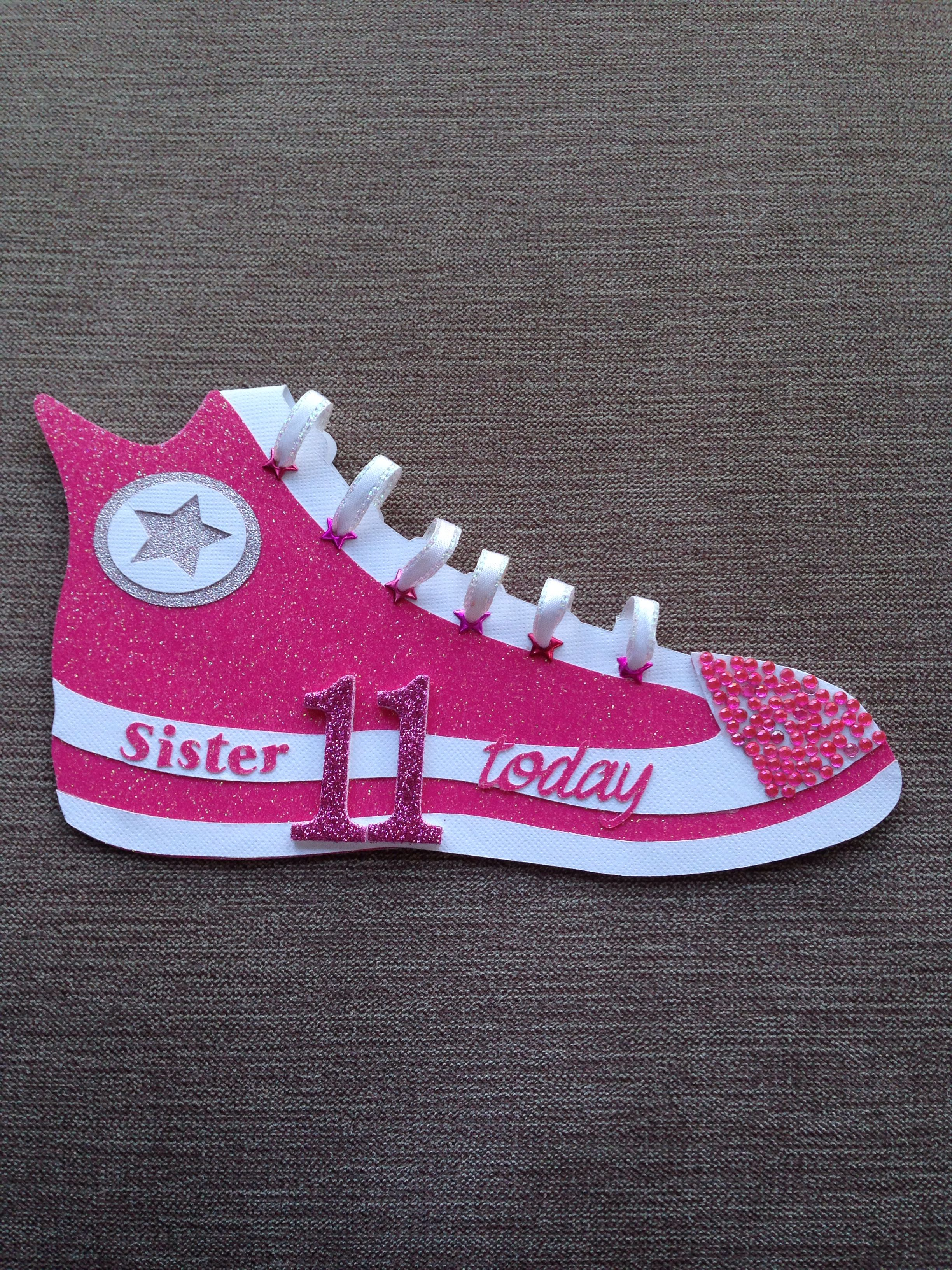 Cricut Converse Shoe Card For My 11 Year Old Daughter