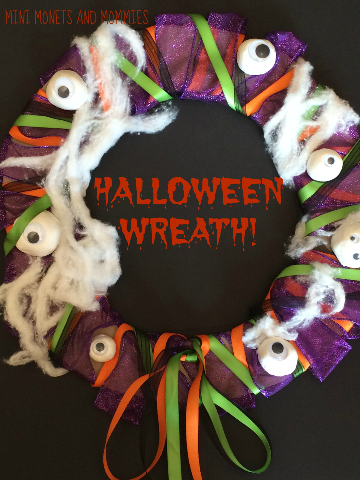 Kids' Halloween Wreath Craft