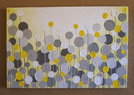 I'll Take My Wine in a Sippy Cup: DIY Abstract Grey and Yellow ...