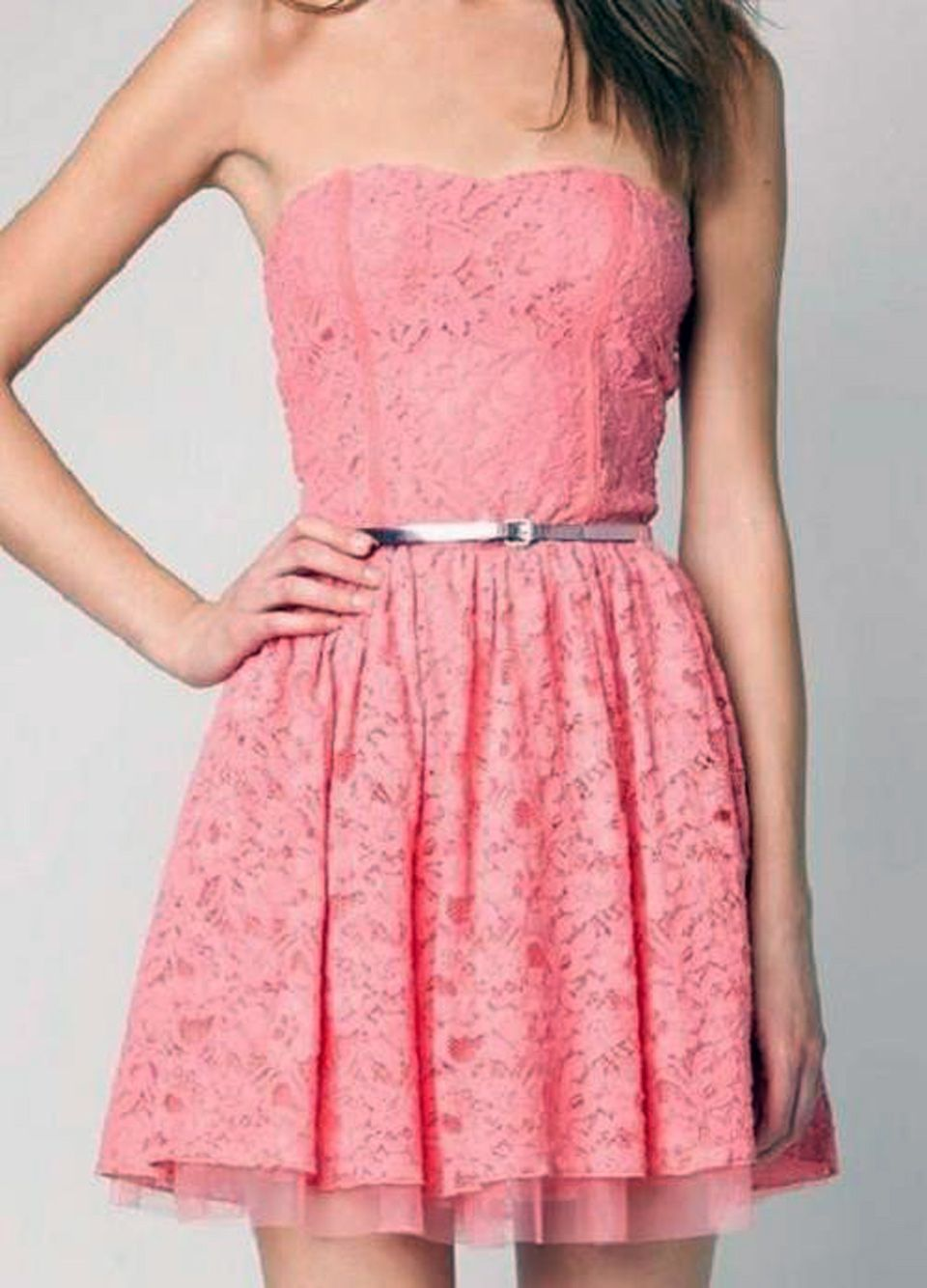 cute pink lace tumblr | Cute Pink Dress Tumblr | style | Pinterest ...