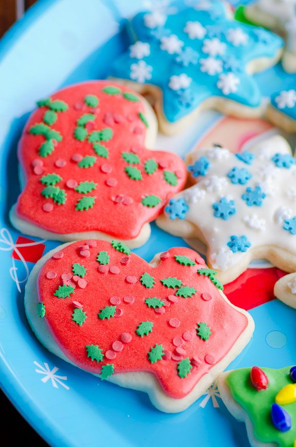 Soft Christmas Cut Out Sugar Cookies With Easy Icing