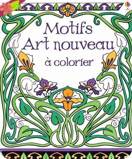 motifs art nouveau colorier aux ditions usborne art. Black Bedroom Furniture Sets. Home Design Ideas