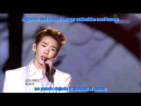 2AM  live - Can't Let You Go Even If I Die sub español + romanizacion una de mis canciones favoritas que fue el ost de dream high!!