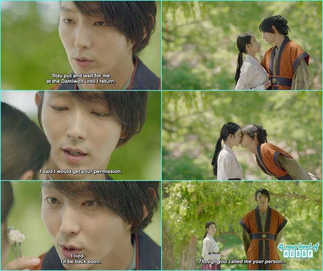 4th prince steal a kiss from hae soo before leaving for jin