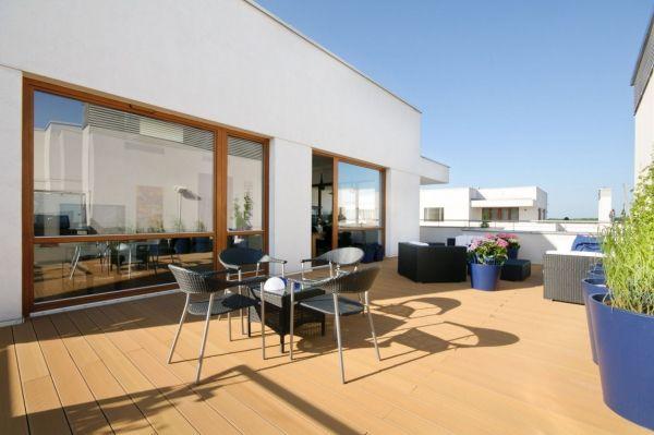 Penthouse Wohnung Warschau-Dachterrasse outdoor Möbel mazedonien - ideen terrasse outdoor mobeln